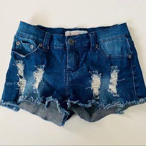 Vintage Havana distressed jean short